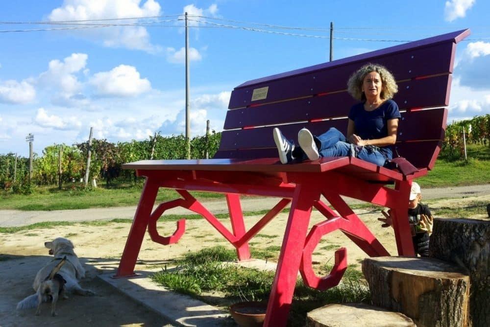 panchina gigante langhe